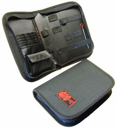 """GIGmate Guitar Tool Case by GIGmate Guitar Gifts. $12.99. The GIGmate is the industry standard guitar tool kit. This is """"just the case"""" specially for players who already have specific tools. Constructed from 600 dineer padded nylon, it's built to last and be able to suffer the """"rigors of the road. Along with slots for string cutters, hex keys, string winders and other tools (see example image) the GIGmate Case comes with a six pocket guitar string organizer so..."""