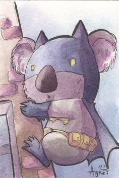 """Koala Batman"" by Agnes Garbowska"