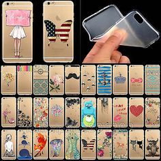Fashion Thin Clear Soft Paint Case Cover For Apple iPhone 4 4S 5 5S 6 6Plus
