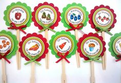 #3                #WorldEricCarle and #HungryCaterpillar    http://www.etsy.com/listing/89076751/a-very-hungry-caterpillar-food-picks