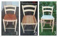 DOES CHEVRON MAKE MY SEAT LOOK BIG? Diy Furniture Redo, Bar Stools, Chevron, Dining Chairs, Big, How To Make, Home Decor, Bar Stool Sports, Dining Chair
