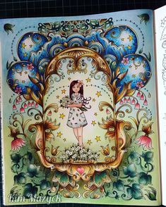A képen a következők lehetnek: 2 ember Johanna Basford Books, Johanna Basford Coloring Book, Colorful Drawings, Colorful Pictures, Magical Jungle Johanna Basford, Johanna Basford Secret Garden, Colored Pencil Techniques, Colouring Techniques, Coloring Book Pages