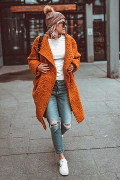 Orange Jacket To Accentuate Your Look ★ Need cute ideas for trendy fall outfits? Look no further. We found 18 hottest fall looks for back to school, work, or play! Grunge Outfits, Edgy Outfits, Preppy Outfits, Mode Outfits, Fashion Outfits, Womens Fashion, School Outfits, Fasion, Winter Outfits