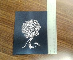 Fruit Tree - Original Abstract India Ink Drawing - Free Shipping by AmieClay, $7.00