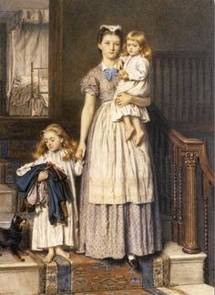 Seven A.M. ~ George Goodwin Kilburne ~ (English: 1839-1924)