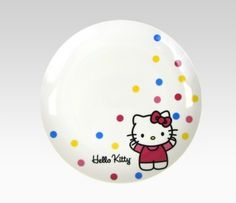 Hello Kitty Plate Set Of 4: Polka Dot