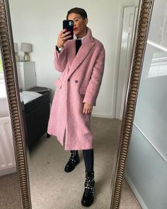 Pink wool coat | For more style inspiration visit 40plusstyle.com