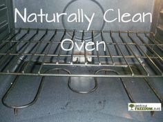 Naturally Clean Oven - It worked, but I must be worse than she is. LOL - had to redo it.