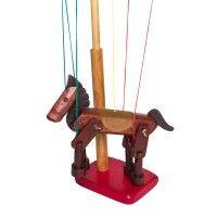 Wooden Marionette - Brown Horse