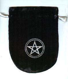 black velvet tarot bag
