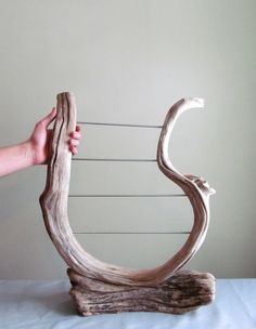 Four Tiered Driftwood Earring Display by DriftingConcepts on Etsy