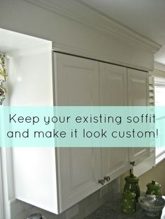 Hide kitchen soffit with molding and crown molding for Advanced molding and decoration