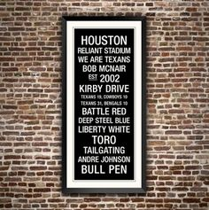 Houston Texans wall art. Get yours at http://PhotoStore.HoustonTexans.com