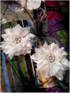 Vintage raw silk  flowers . ..♡♡♡