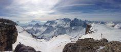 Dolomites, view from piz boe 3152 meters