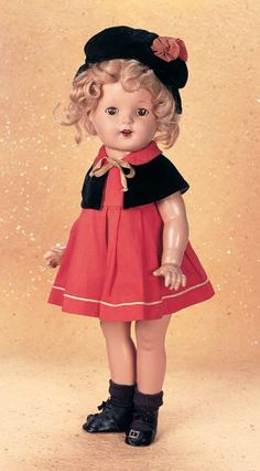 """Playful Art - The Century Doll: 82 Rare American Composition Doll """"Little Colonel"""" by Alexander in Tagged Original Costume"""