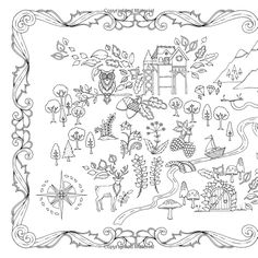 Enchanted Forest An Inky Quest Coloring Book Amazonde Johanna Basford