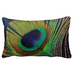 beautiful peacock feather original  photo art throw pillows by Ann Powell at #zazzle #decor #homedecor #pillows