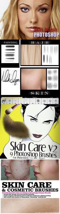 Skin Care & Cosmetic Brushes for Photoshop