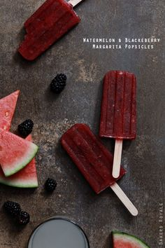 Watermelon and Blackberry Margarita Popsicle | Bakers Royale