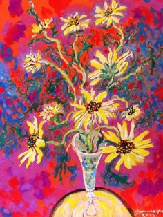 Flowers on table 4 by James Paul Brown on mobiART Paul Brown, Table Flowers, Paintings, Art, Art Background, Paint, Painting Art, Kunst, Performing Arts