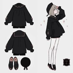 Drawing Tips Clothing Anime Outfits, Cute Outfits, Fashion Design Drawings, Fashion Sketches, Character Outfits, Character Art, Drawing Anime Clothes, Manga Clothes, Mode Kawaii