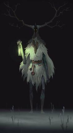 Art by Aleksandr Nikonov Mythological Creatures, Fantasy Creatures, Mythical Creatures, Fantasy Character Design, Character Design Inspiration, Character Art, Fantasy Forest, Dark Fantasy Art, Monster Design