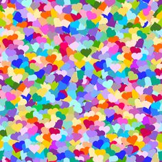 Make a cute dress for a shower or party.  Rainbow Confetti Hearts fabric by inspirationz on Spoonflower - custom fabric