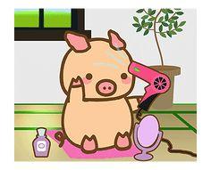 Emoji Stickers, Cute Stickers, Pig Illustration, Illustrations, Kawaii Pig, Pig Drawing, Cute Piggies, Line Sticker, Pigs