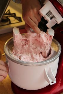 Easy Homemade Strawberry Ice Cream - The Culinary ChaseYou can find Ice cream maker and more on our website.Easy Homemade Strawberry Ice Cream - The Culinary Chase Helado Keto, Keto Eis, Cuisinart Ice Cream Recipes, Kitchenaid Ice Cream Maker, Homemade Strawberry Ice Cream, Strawberry Ice Cream Recipe Kitchenaid, Easy Homemade Ice Cream, Half Baked Ice Cream Recipe, Pampered Chef Ice Cream Recipe