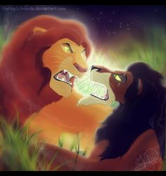 Mufasa and Scar. Lion King Tree, Scar Lion King, The Lion King 1994, Lion King Fan Art, Lion Art, Sad Disney, All Disney Movies, Kimba The White Lion, Lion King Quotes