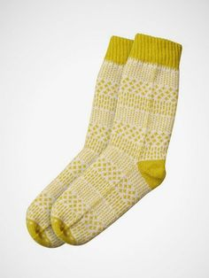 Dash Dot Socks Beige/Mustard i dont know why but i am quite charmed by these socks!