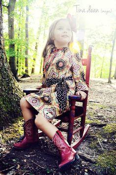 70s Vintage Style Dress - Toddler Kids Fashion 2013