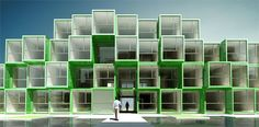 Prefab Housing Pyramid Puts Students in a (Container) Box