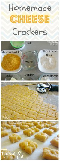 Make your own cheese crackers with simple ingredients! As yummy, if not better, than store-bought ones.