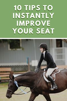 If you want to become a better rider, you need to improve your seat! Here are 10 easy tips that you can use to instantly improve your seat. Bareback Riding, Horseback Riding Lessons, Horse Riding Tips, Horse Tips, Horse Training, Training Tips, Horse Therapy, Horse Exercises, Horse Trailers