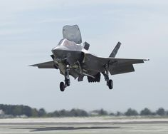 An F-35B Lightning II (STOVL) (USMC) during flight tests near NAS Patuxent River, Maryland.