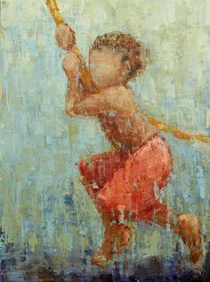 """Rope Swing No. 15"" by Rebecca Kinkead"