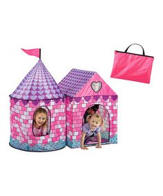 Every little princess needs a special space to pretend and play! With an arched entrance, two-room design, mesh window and carrying case, this darling castle is the perfect candidate.
