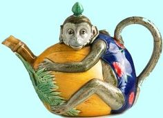 The inspiration for my majolica teapot collection. I sold one and then searched for 14 years for another.