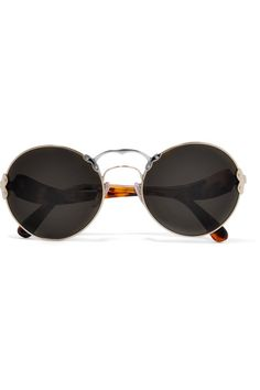 7d295a73ffa Prada - Round-frame Acetate And Metal Sunglasses - Tortoiseshell - one size  Tortoise Shell