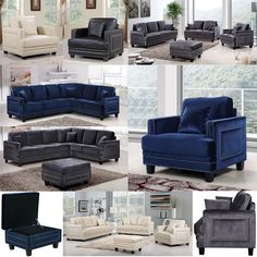 #dynamichome #furniture #modern #contemporary #livingroom #sofa #sectional #velvet #navy #grey #gray #leather #trending #homedecor #greatroom #nailhead #interiors #interiordesign #home #inspo