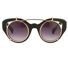 c3488bb04f EDM5SUN Round Gold Frame Glasses