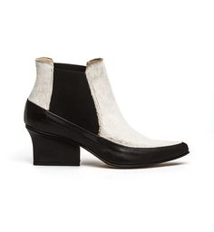 50657e059add Gina black cream Chelsea Ankle Boots