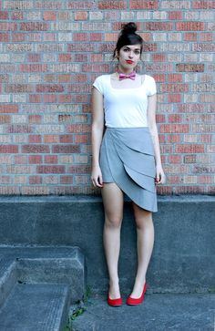Grey origami petal skirt by Minxshop