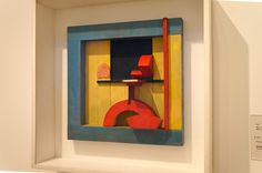 """Relief in the blue square"" (""Relieve en cuadrado azul"") Kurt Schwitters  Colección Museo Thyssen-Bornemisza Madrid #Arte #Art #Arterecord 2015 https://twitter.com/arterecord"