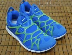 Blue green nike shoes mens