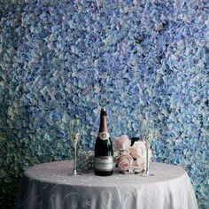 Diy Wedding Backdrop, Flower Wall Backdrop, Wall Backdrops, Wedding Wall, Blue Wedding, Dream Wedding, Reception Backdrop, Balloon Backdrop, Glamorous Wedding