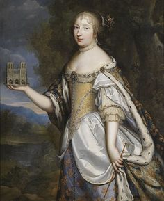 Marie Therese,Queen of France as  as patron of the Cathedral of Notre-Dame de Paris,c.1660 Charles Beaubrun