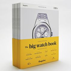 The team behind Esquire recently launched a new luxury special dedicated in its entirety to the world of luxury wristwatches called The Big Watch Book prominently featuring GT Cinetype. Design by Esquire @esquire Creative Direction by Nick Millington nmillingt0n Cover Photography by Dan McAlister #gtcinetype #grillitype #esquire #esquiremagazine #magazine #cover #typography by grillitype